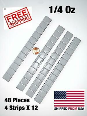 48 Pieces Wheel Weights Stick-On Adhesive Tape Weight | 1/4 Oz (0.25) 48 Pcs