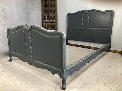 Vintage French King size bed/ Painted French bed (VB474)
