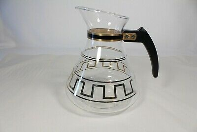 Vintage Mid Century Modern David Douglas Flameware 8 Cup Glass Coffee Carafe