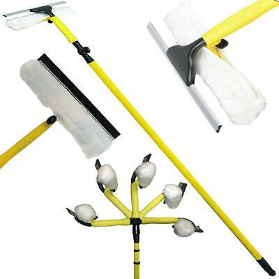 3.5M Telescopic Conservatory Window Cleaner Extendable Heavy Duty Cleaning Kit