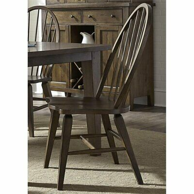 Liberty Furniture Hearthstone Windsor Back Dining Side Chair in Oak