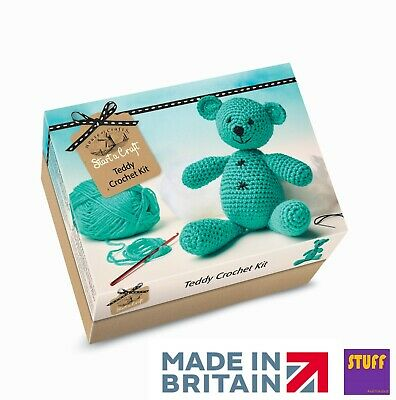 Make Your Own Crochet Teddy Bear Kit Knitting Sewing Creative Craft Starter Set