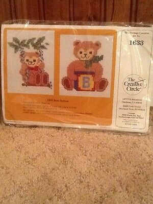"""The Creative Circle Cross Stitch Kit 1633 """"Bear Babies"""" New And Sealed"""