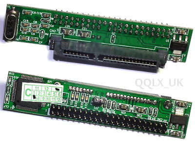 SATA Female to 44Pin 2.5 IDE Male HDD Adapter Converter SPC-0169 - UK Seller