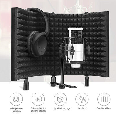 Microphone Acoustic Panel Mic Shield Isolation Reflection Screen Foam for Studio