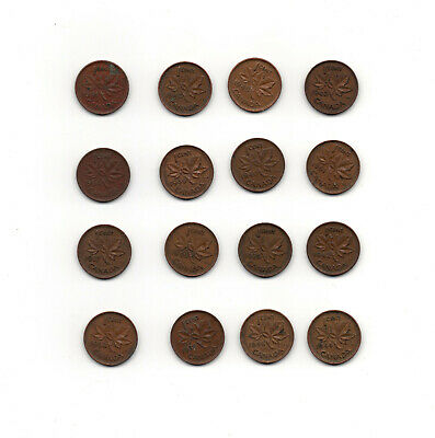 Canada Cent Coins 1939-1952 King George VI Circilated 1937-1952