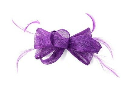 Purple Feather Fascinator Hair Clip or Hair Band Ladies Day Races Party Wedding