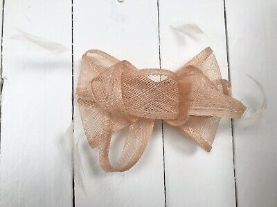 Nude Feather Fascinator Hair Clip or Hair Band Ladies Day Races Party Wedding