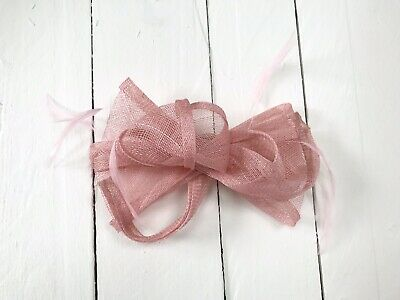 Pink Feather Fascinator Hair Clip or Hair Band Ladies Day Races Party Wedding