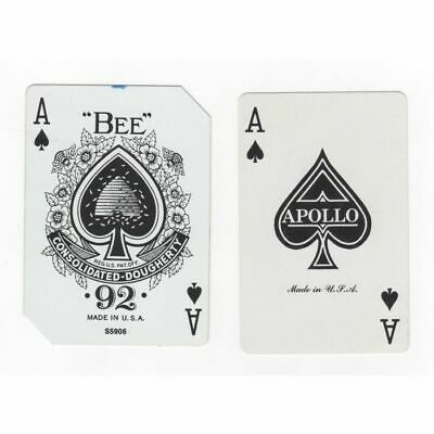 2 Single Old Swap Playing Cards. ACE of SPADES, LADY LUCK BEE 92, St Margaret Ma