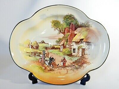 Antique Art Deco 1937 Royal Doulton Rustic England Serving Bowl Plate Dish
