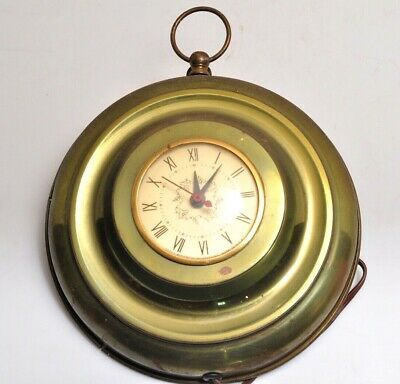 """Vintage Wall Clock by Sessions Plug in Electric 9""""inch diameter"""