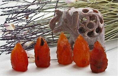 CARNELIAN Rough Natural Crystal Collection Gemstone Ground Motivate Courage