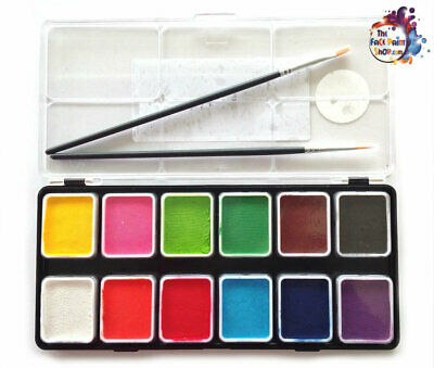 Diamond FX Face Paint Palette - Essential Appetiser 12 x 6 g+ Two FREE Brushes