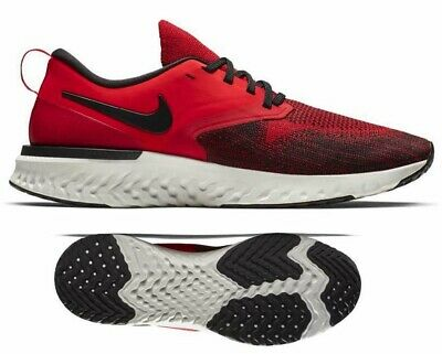 New NIKE Odyssey React 2 Flyknit Men's Running Shoes red black all sizes