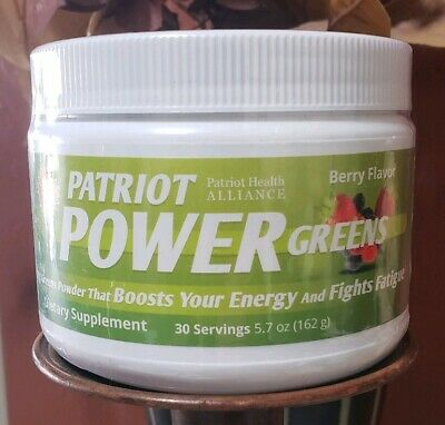 Patriot Power Greens 30 Servings~Sealed~Boost Energy~Fight Fatigue~Berry Flavor