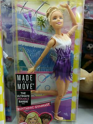 NRFB Brand New & HTF Barbie Sold Out Made to Move Rhythmic Gymnast Barbie