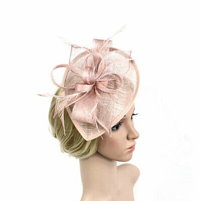 Women Fascinator Tiara Banquet Hemp Vintage Headpiece Wedding Feather Hair Clip