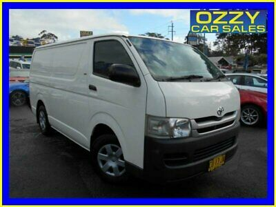 2007 Toyota HiAce TRH201R MY07 LWB White Manual 5sp M Van