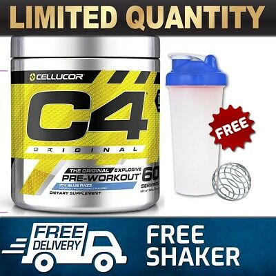 Cellucor C4 Id 60 Serves Serve Pre Workout C4 Original Energy Creatine  Muffin
