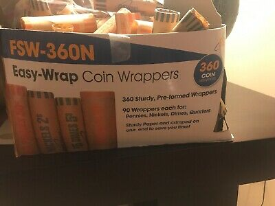Rolls Preformed Assorted Coin Wrapper Tubes 360