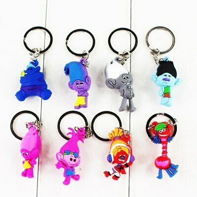 "1Pcs Random Vintage Trolls Lucky Doll Mini Figures Toy 1"" Cake Toppers Key Chain"
