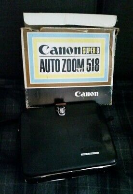 hand held VINTAGE CANON super 8 AUTO ZOOM camera and case