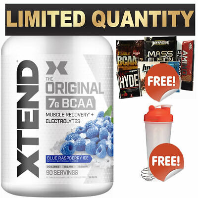 SCIVATION XTEND 90 SRV BLUE RASP BCAA's ELECTROLYTES BRANCHED CHAIN AMINO ACID