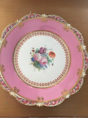Stunning Cake Plates Antique Hand Painted