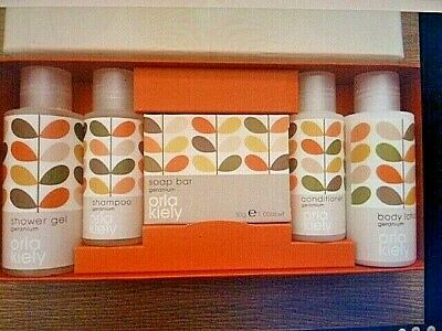 Orla Kiely Mini Toiletries: Shampoo, Conditioner, Shower Gel, Body Lotion