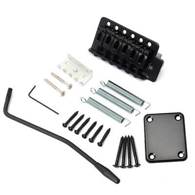 BL_ Electric Guitar Tremolo Bridge System with Neck Plate for Stratocaster Strat