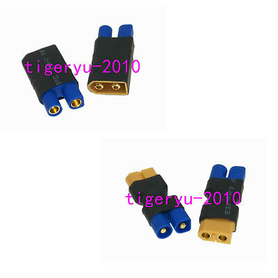 1pce EC3 to XT60 Male & Female No Wire adapter for Parkzone E-flite Turnigy