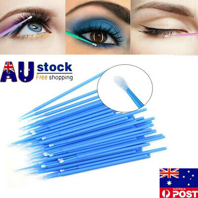 500pcs Women Micro Brush Eyelash Tool  Disposable Applicators Extensions Makeup