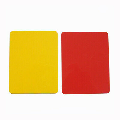 Football Match Referee Card Yellow Red Special Glossy Referee Card