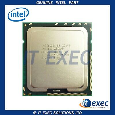Intel Xeon X5690 SLBVX 3.46GHz 6 Core 6.4GT/s 12MB 1333GHz LGA1366 Processor CPU