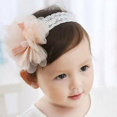 1pc Baby Kid Toddler Lace Flower Hair Band Headwear Girls Headband Accessories