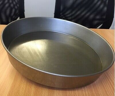"Pizza Pan, Mild Steel,  2 Inches' Deep ,13"" base"