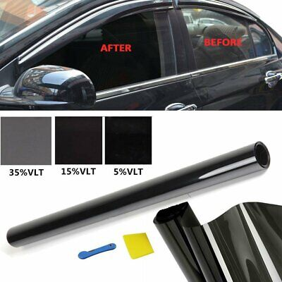 5% 15% 35% BLACK OFFICE HOME CAR WINDOW GLASS TINT FILM TINTING KIT 75CMx3M UK