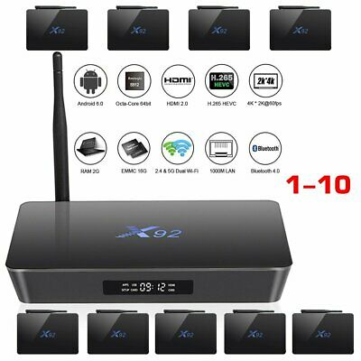 X92 Smart TV Box Android 7.1 4K WIFI Media Player 3G 32G S912 HDMI Top Box lot