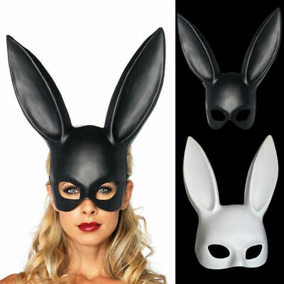 Women's Party Bunny Rabbit Ears Mask Cosplay Costume Masquerade Props AU