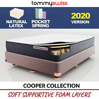 TOMMY SWISS: MATTRESS Comfort King Queen Double & Single Pocket Spring Latex