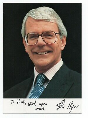 Sir JOHN MAJOR Prime Minister. 7x5 genuine signed photo with covering letter