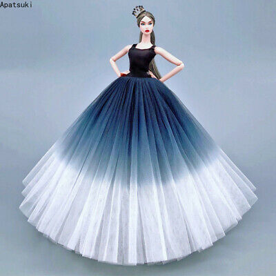 Purple High Fashion Wedding Dress for Barbie Doll Clothes Outfits Gown 1/6 Toy