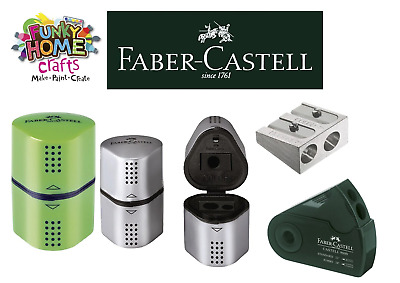 Faber Castell pencil sharpeners, Trio 3 in 1, Metal Twin hole various pencils