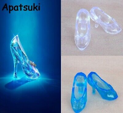 """10Pairs/lot Fashion Crystal Shoes for Barbie 11"""" Cinderella 1/6 Doll Accessories"""