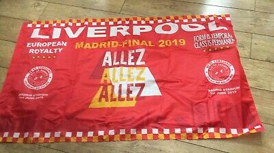 LIVERPOOL  EUROPEAN CUP FINAL BANNER - MADRID 2019 5x3 FT LARGE  FREE 1ST CLASS
