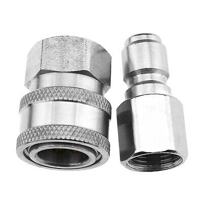 "2x 3/8"" Female Male Quick Release Adapter Connector Kit for 4500-7500PSI Washer"