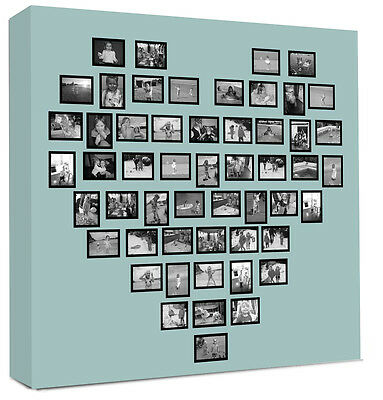 Photo Collage Canvas Heart Shape - Personalised canvas print
