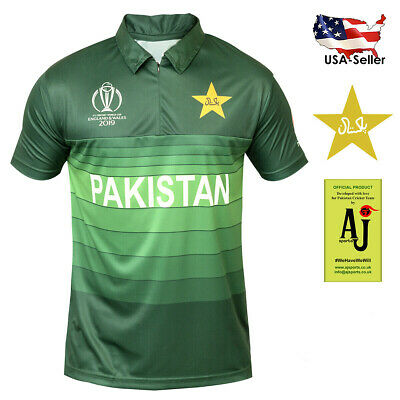 Pakistan Cricket Worldcup Jersey 2019 Official AJ Shirt Fast Shipping