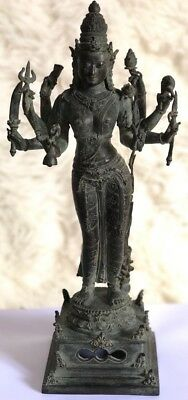 Indonesian Antique Style Bronze Statue of Goddess Parvati from East Java